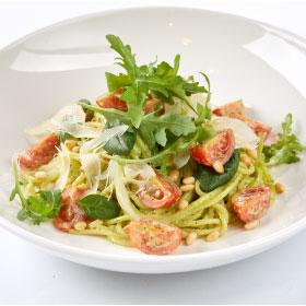 Паста с соусом Песто и кедровыми орешками,Спагетти